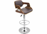 Fiore Walnut Bar Stool - Lumisource