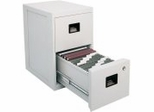Fire Safe 2 Drawer Office File Cabinet - Sentry Safe - 6000