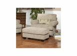 Fireside Jute Upholstered Chair and Ottoman - Largo - LARGO-ST-F1227-403-404