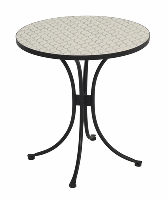 Fishtail Bistro Table in Off-White - Home Styles - 5606-34