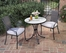 Fishtail Tile Bistro Table and 2 Newport Arm Chairs - Home Styles - 5606-341