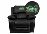 Fitchburg State University Falcons Leather Rocker Recliner - MEN-DA3439-91-BK-41031-EMB-GG