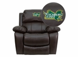 Fitchburg State University Falcons Leather Rocker Recliner  - MEN-DA3439-91-BRN-41031-EMB-GG