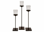 Flamenco Floor Candle Holders (Set of 3) - IMAX - 6998-3