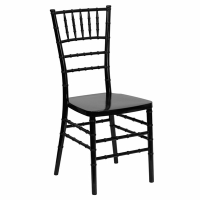 Flash Elegance Black Resin Stacking Chiavari Chair - LE-L-7E-BK-RESIN-GG