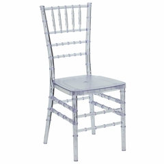 Flash Elegance Crystal Clear Resin Stacking Chiavari Chair - LE-L-7F-CRY-RESIN-GG