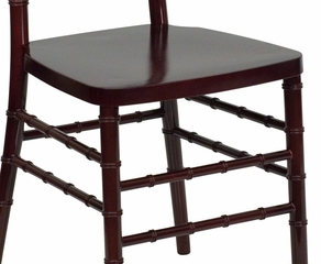 Flash Elegance Mahogany Resin Stacking Chiavari Chair - LE-L-7D-MAH-RESIN-GG