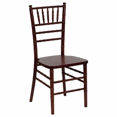 Flash Elegance Supreme Mahogany Wood Chiavari Chair - YT-YJA03-MAH-GG