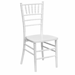 Flash Elegance Supreme White Wood Chiavari Chair with White Finish - YT-YJA13-WH-GG