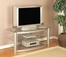 "Flat Panel / Flat Screen Stand - ""Matte Silver"" - Powell Furniture - 633-694"