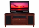 Flat Panel / Flat Screen TV Stand - 61 Inch Shaker Style TV Entertainment Corner Console for Plasma/LCD Installations - FT61SCC