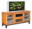 Flat Panel / Flat Screen TV Stand - 62 Inch Arts and Crafts Styled TV Entertainment Console for Plasma/LCD Installations - FT62RB