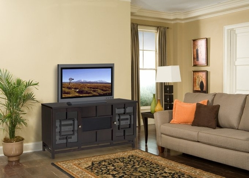 Flat Panel / Flat Screen TV Stand - 62 Inch Asian Style Console for Plasma/LCD/DLP Installations - FT62AC