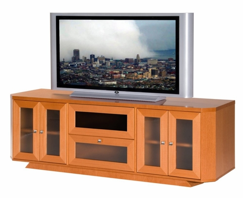 Flat Panel / Flat Screen TV Stand - 70 Inch Transitional TV Entertainment Console for Plasma/LCD Installations - FT71CRC