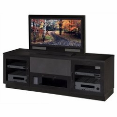 Flat Panel / Flat Screen TV Stand - 72 Inch Contemporary TV Entertainment Console for Plasma/LCD Installations in Ebonized Cherry - FT72CC-EBONIZED