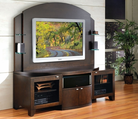 Flat Panel / Flat Screen TV Stand with Back Panel - Bolero - JSP Furniture - B-60-P-SP