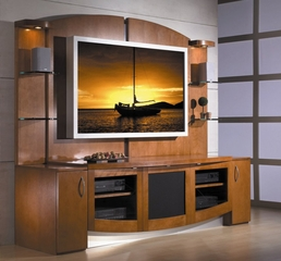 Flat Panel / Flat Screen TV Stand with Back Panel - Jazzy - JSP Furniture - J-30-P-SP