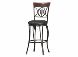 Fleur De Lis Bar Stool - Linon Furniture - 02733MTL-01-KD-U