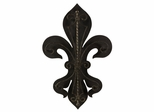 Fleur-De-Lis Two Layer Wall Plaque - IMAX - 16144