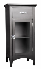 Floor Cabinet with 1 Door and 1 Drawer in Dark Espresso - Madison Avenue - 7626
