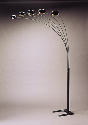 Floor Lamp in Black - Coaster - 1297A