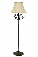 Floor Lamp with Silk Shade - Style Craft - FL8168