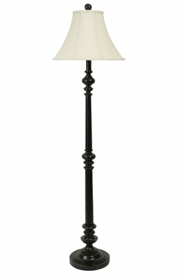 Floor Lamp with Silk Shade - Style Craft - FL8625