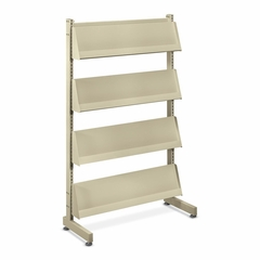 Floor Stand Literature Rack - Putty - HONMR44L