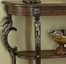 Floral Demilune Console Table - Masterpiece - Powell Furniture - 416-225