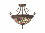 Floral Leaf Hanging Fixture Large - Dale Tiffany