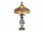Floral Wave Tiffany Table Lamp - Dale Tiffany