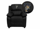 Florida International University Golden Panthers Black Leather Kids Recliner - BT-7985-KID-BK-LEA-41033-EMB-GG