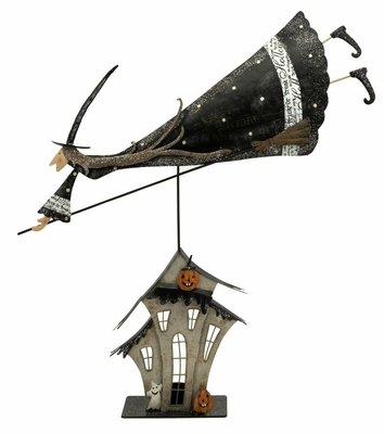 Flying Broom Witch Statuary - IMAX - 58660