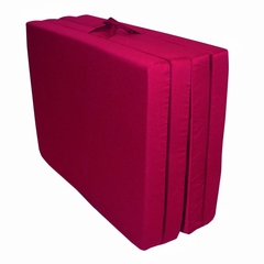 "Foam Furniture Adult Quad-Fold Hide-A-Mat Full 54"" in Burgundy - 32-5940-610"
