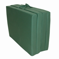 "Foam Furniture Adult Quad-Fold Hide-A-Mat Full 54"" in Hunter Green - 32-5940-602"