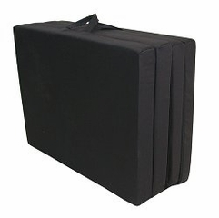 "Foam Furniture Adult Quad-Fold Hide-A-Mat Queen 60"" in Black - 32-5950-601"