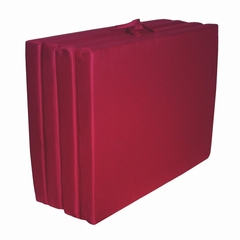 "Foam Furniture Adult Quad-Fold Hide-A-Mat Queen 60"" in Burgundy - 32-5950-610"