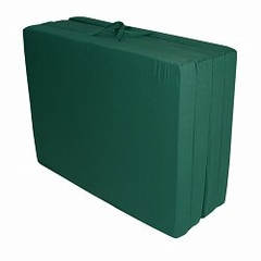 "Foam Furniture Adult Quad-Fold Hide-A-Mat Queen 60"" in Hunter Green - 32-5950-602"