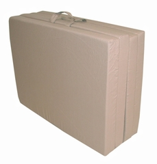 "Foam Furniture Adult Quad-Fold Hide-A-Mat Queen 60"" in Sand - 32-5950-611"