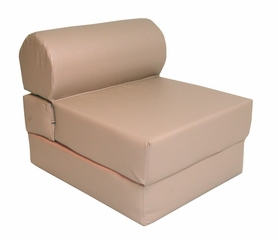 "Foam Furniture Adult Studio Chair Sleeper Jr. Twin 28"" Poly Cotton in Sand - 32-2120-611"