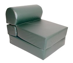 "Foam Furniture Adult Studio Chair Sleeper Jr. Twin 28"" Vinyl in Spruce - 32-2120-327"