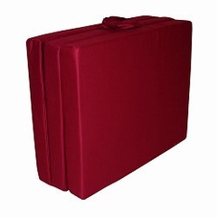 "Foam Furniture Adult Trifold Hide-A-Mat Jr. Twin 31"" in Burgundy - 32-5820-610"