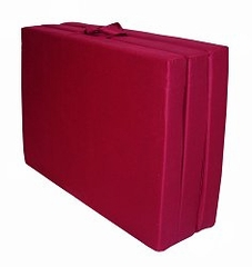 "Foam Furniture Adult Trifold Hide-A-Mat Twin 39"" in Burgundy - 32-5830-610"
