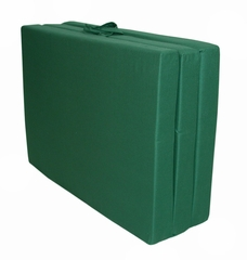"Foam Furniture Adult Trifold Hide-A-Mat Twin 39"" in Hunter Green - 32-5830-602"