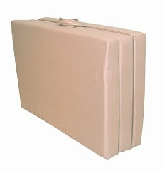 "Foam Furniture Adult Trifold Hide-A-Mat Twin 39"" in Sand - 32-5830-611"