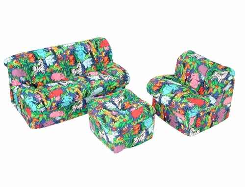 Foam Furniture Kids 3-Piece Sofa Set in Jungle - Mini Mushroom - 32-4503-807