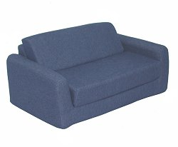 "Foam Furniture Kids Sofa Sleeper Twin 38"" in Indigo Denim - 32-4200-599"