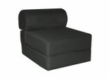 "Foam Furniture Kids Studio Chair Sleeper Jr. Twin 24"" in Black - 32-4300-601"