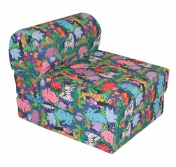 "Foam Furniture Kids Studio Chair Sleeper Jr. Twin 24"" in Jungle - 32-4300-807"