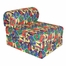 "Foam Furniture Kids Studio Chair Sleeper Jr. Twin 24"" in Race Cars - 32-4300-822"